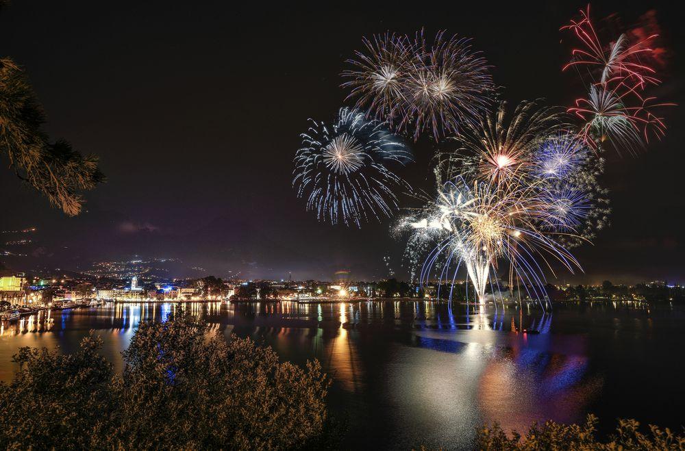 Fuochi d'artificio a Capodanno a Riva del Garda